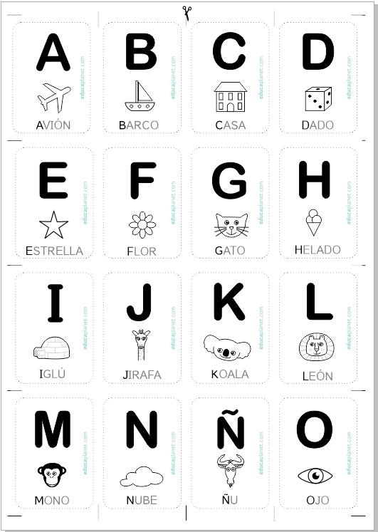 Tarjetas abecedario - aprender a leer jugando con letras GRATIS ...