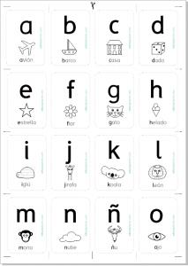 tarjetas abecedario imprimir minúscula