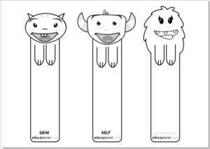 marcapaginas imprimir colorear educaplanet GRATIS