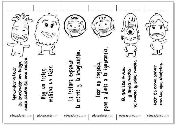 Marcapaginas Para Imprimir Y Colorear Gratis De Educaplanet