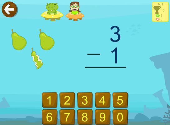 restas ejercicios juegos interactivo app