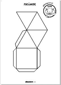 desarrollo pirámide papel imprime recorta