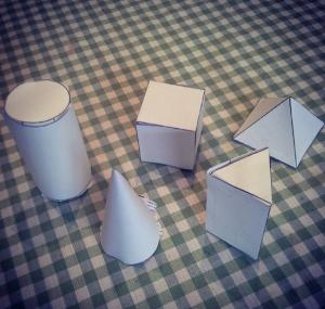 formas 3d papel