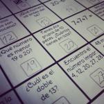 calendario con problemas matemáticas