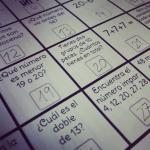 Calendario con problemas matemáticas diario julio