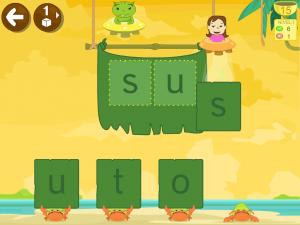 Juego app cangrejo completa silabas
