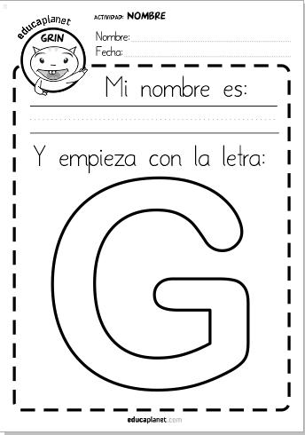 Escribe tu nombre - actividades lectoescritura infantil EDUCAPLANET APPS