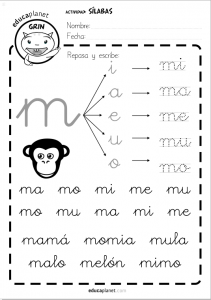 silabas directas M