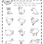 domestic animals printable worksheet free