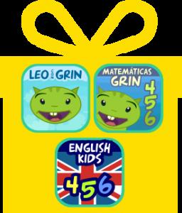 Pack 3 productos aplicaciones para niños educativas