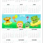 calendario 2018 infantil para imprimir
