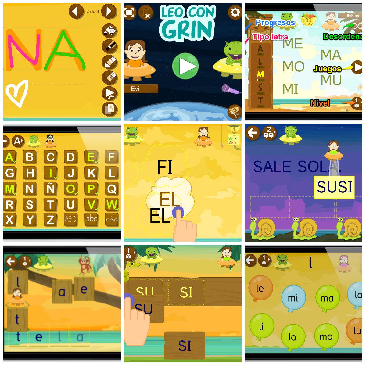 Aprender A Leer App Leo Con Grin En Ios Y Android Educaplanet Apps