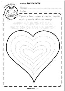 Ficha San Valentin Preescolar LIBRE