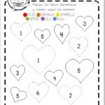 ficha san valentin prescolar números educaplanet corazón