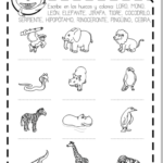 FICHA ANIMALES SALVAJES: VOCABULARIO inglés y español