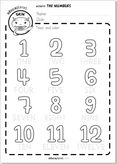 aprender los numeros en ingles ficha gratis