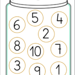 Ficha números empareja tarro galletas