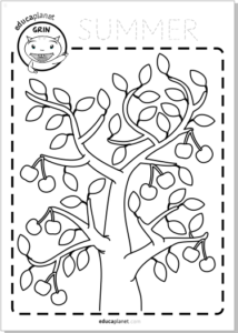 coloring summer worksheet FREE