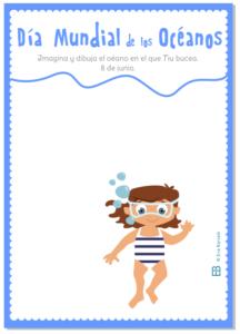 dia mundial oceanos actividad ficha colorear Eva Barcelo Ilustracion mallorca fondo mar eva barcelo