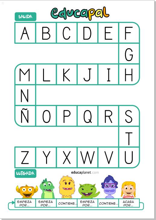 juego oca de las letras educaplanet