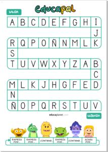 juego oca letras educaplanet