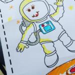 astronauta GRATIS descarga e imprime ficha actividades infantil