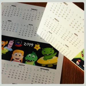 Calendario infantil 2019