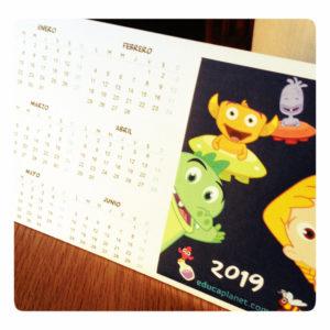 calendario infantil 2019 GRATIS imprimible