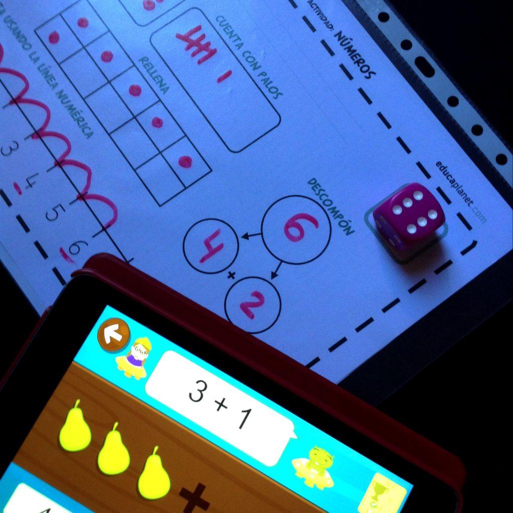 Ficha números dado infantil educaplanet juegos aprender a contar