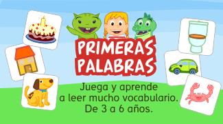 Primeras palabras Grin y Uipi Aplicación infantil aprender a leer