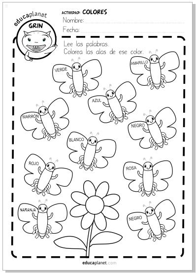 colorea mariposas infantil ficha gratis preescolar