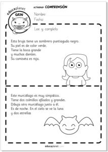 Ejercicios comprensión lectora niños GRATIS