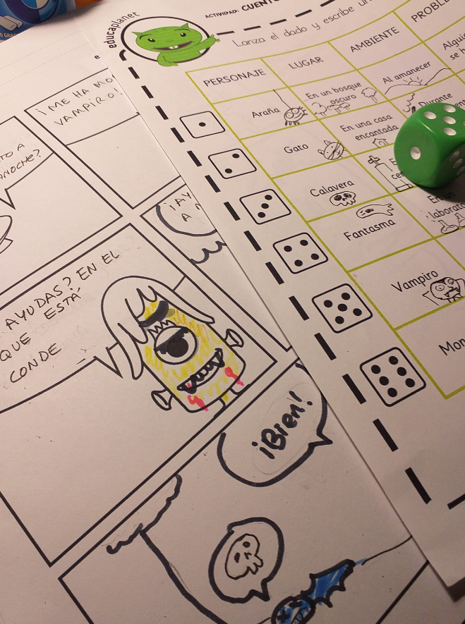 comic con dados story roll dice