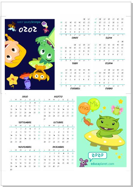 calendario 2020 infantil sobremesa