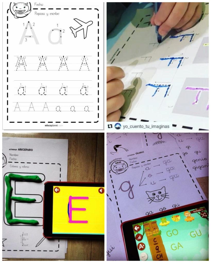 Ejercicios lectoescritura letras abecedario Educaplanet