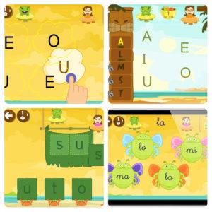 Vocales inicio palabras app Juegos interacticos conciencia fonológica