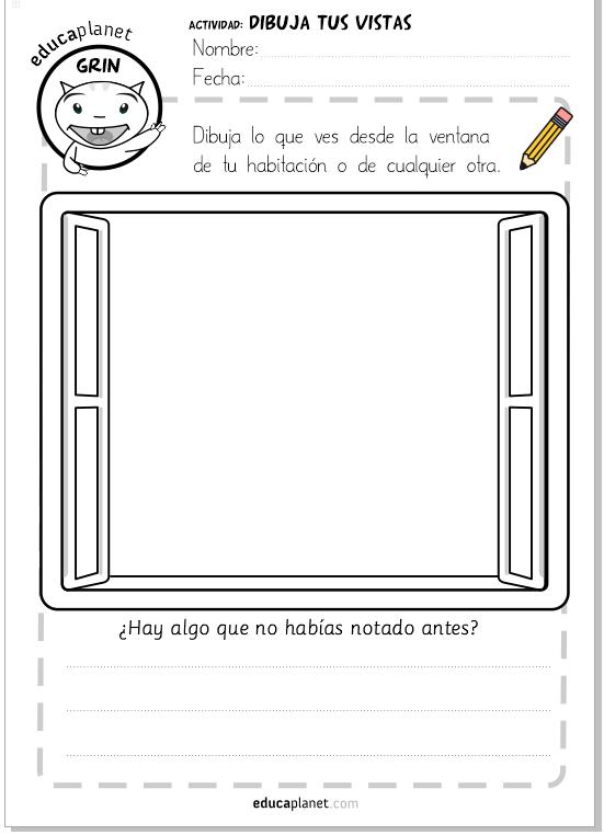 Diario de cuarentena: Dibuja lo que ves desde la ventana