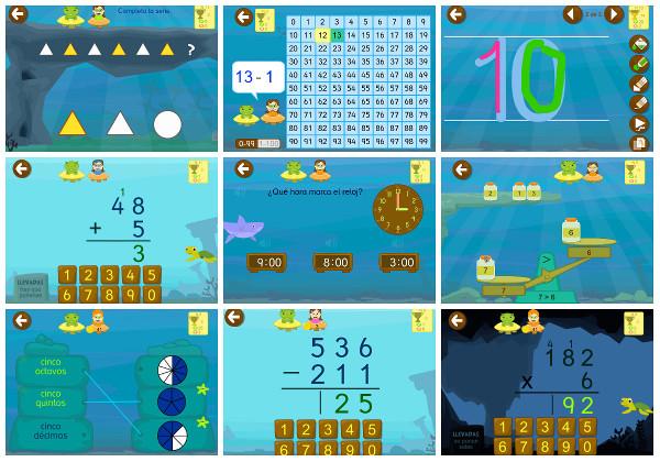 Juegos Matemáticas con grin