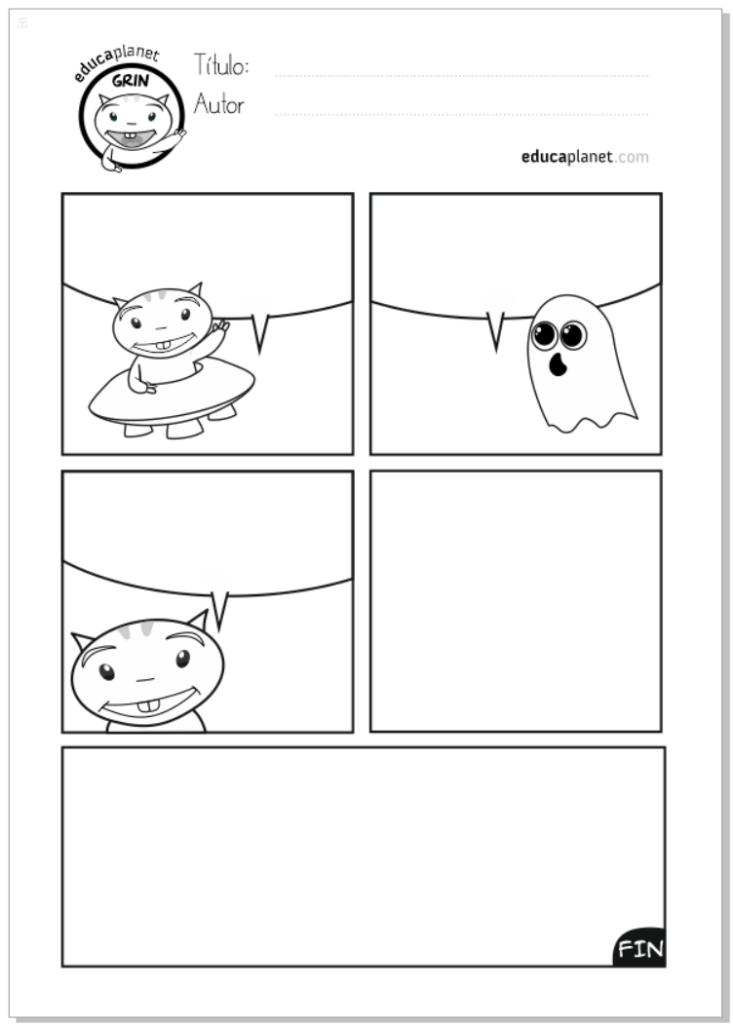Escribe y acaba la historia - comic halloween