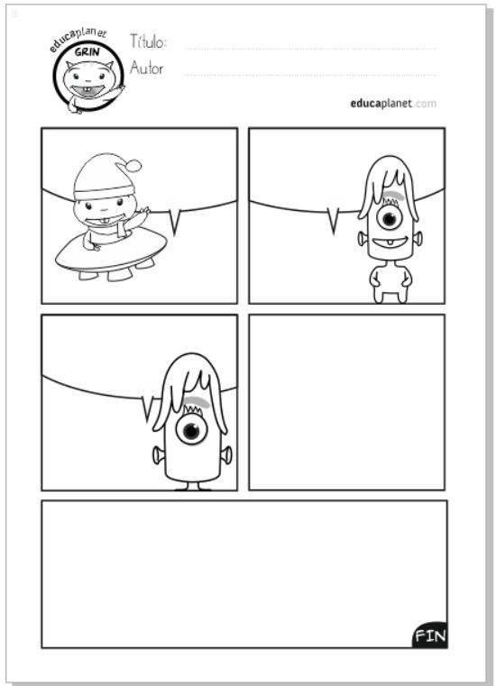 escribir comic grin alien educaplanet gorro