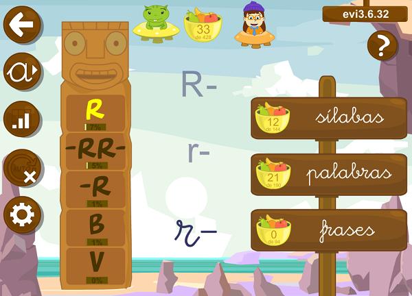 LEO CON GRIN tiene 3 lecciones dedicadas a la letra R: en posición inicial, suave y doble.