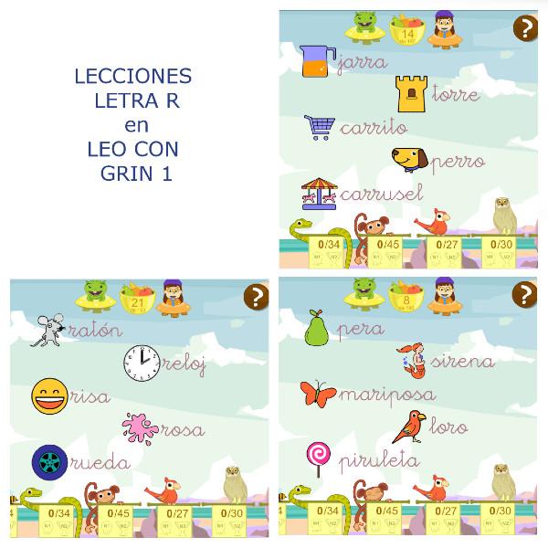 Presentación lecciones LETRA R: sonido suave y fuerte a principio y mitad de palabra.