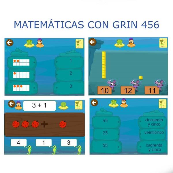Juegos de números en Matemáticas con Grin 456. Números valor posicional.