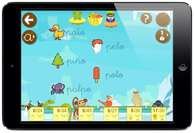 Lección letra P palabras y juegos