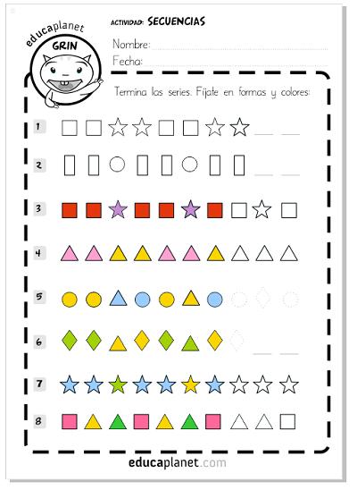 Series matem ticas para ni os infantil primaria for Para desarrollar una entrada practica